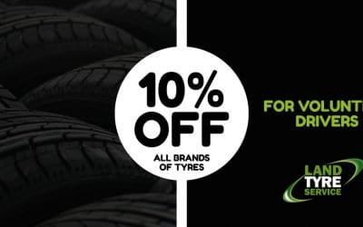 10% Off Tyres for Volunteer Drivers