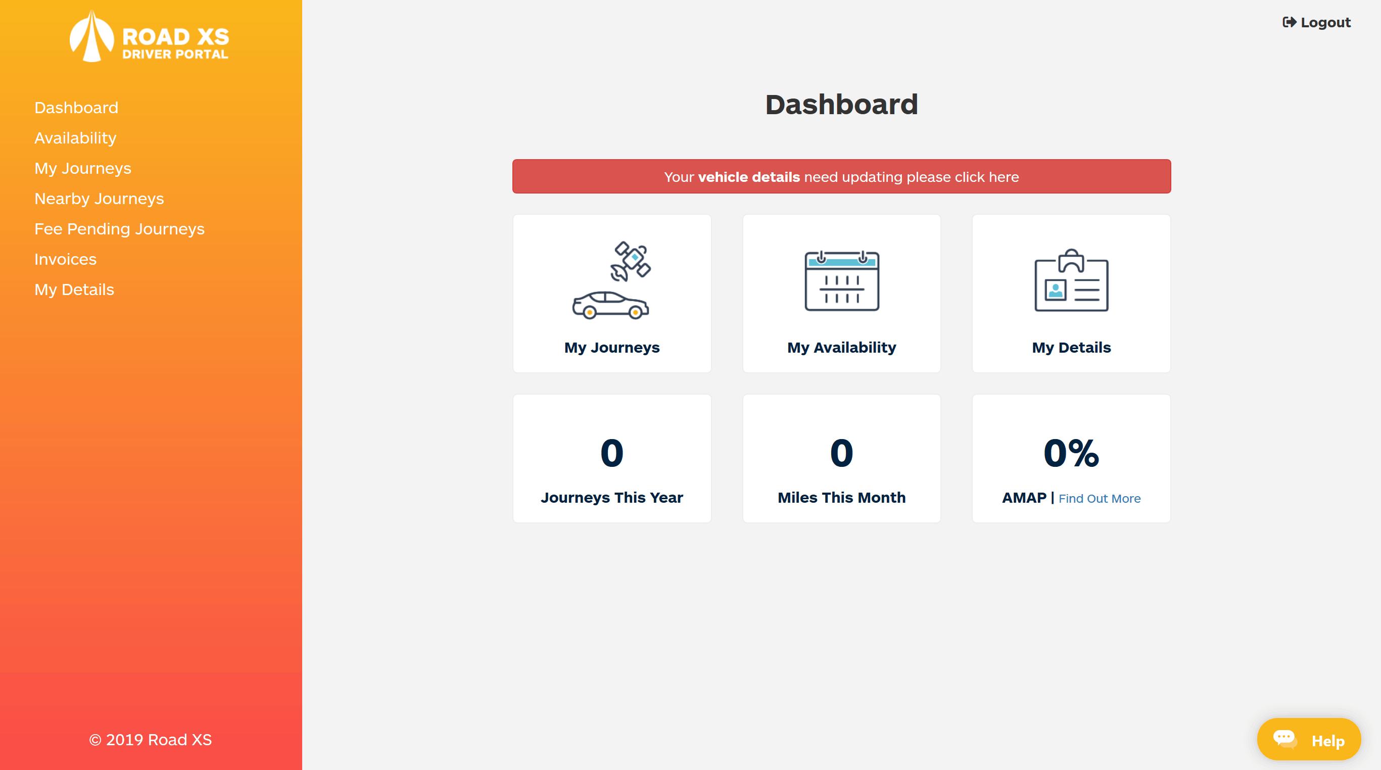Road XS Driver Portal